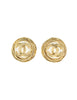 Chanel Vintage Gold Pearl CC Logo Birds Nest Earrings - Amarcord Vintage Fashion  - 1