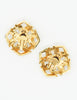 Chanel Vintage Gripoix Gold CC Logo Earrings - Amarcord Vintage Fashion  - 7