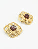 Chanel Vintage Gripoix Gold CC Logo Earrings - Amarcord Vintage Fashion  - 3