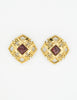 Chanel Vintage Gripoix Gold CC Logo Earrings - Amarcord Vintage Fashion  - 2