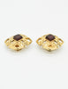 Chanel Vintage Gripoix Gold CC Logo Earrings - Amarcord Vintage Fashion  - 5