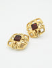 Chanel Vintage Gripoix Gold CC Logo Earrings - Amarcord Vintage Fashion  - 6