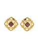 Chanel Vintage Gripoix Gold CC Logo Earrings - Amarcord Vintage Fashion  - 1