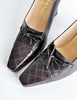 Chanel Vintage Quilted Eggplant Loafer Heels - Amarcord Vintage Fashion  - 7
