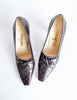 Chanel Vintage Quilted Eggplant Loafer Heels - Amarcord Vintage Fashion  - 6