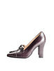 Chanel Vintage Quilted Eggplant Loafer Heels - Amarcord Vintage Fashion  - 1