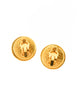 Chanel Vintage Gold & White Glass Namesake Earrings - Amarcord Vintage Fashion  - 5