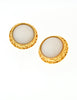 Chanel Vintage Gold & White Glass Namesake Earrings - Amarcord Vintage Fashion  - 2