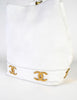 Chanel Vintage White Caviar Bucket Bag - Amarcord Vintage Fashion  - 6