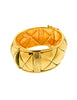 Chanel Vintage Gold Quilted Wide Cuff Bracelet