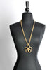 Chanel Vintage Gold Camellia Flower Necklace - Amarcord Vintage Fashion  - 3