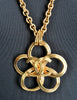Chanel Vintage Gold Camellia Flower Necklace - Amarcord Vintage Fashion  - 4
