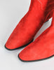 Charles Jourdan Vintage Red Suede Knee High Boots - Amarcord Vintage Fashion  - 6