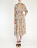 Chloé Vintage Silk Chiffon Floral Harvest Print Dress - Amarcord Vintage Fashion  - 3