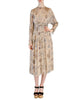 Chloé Vintage Silk Chiffon Floral Harvest Print Dress - Amarcord Vintage Fashion  - 1