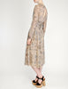 Chloé Vintage Silk Chiffon Floral Harvest Print Dress - Amarcord Vintage Fashion  - 5