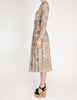 Chloé Vintage Silk Chiffon Floral Harvest Print Dress - Amarcord Vintage Fashion  - 4