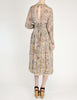 Chloé Vintage Silk Chiffon Floral Harvest Print Dress - Amarcord Vintage Fashion  - 6