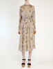 Chloé Vintage Silk Chiffon Floral Harvest Print Dress - Amarcord Vintage Fashion  - 2