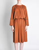 Chloe Vintage Rust Wool Dress - Amarcord Vintage Fashion  - 2