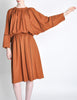 Chloe Vintage Rust Wool Dress - Amarcord Vintage Fashion  - 6