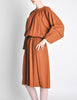 Chloe Vintage Rust Wool Dress - Amarcord Vintage Fashion  - 5