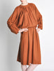 Chloe Vintage Rust Wool Dress - Amarcord Vintage Fashion  - 3