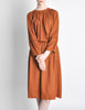 Chloe Vintage Rust Wool Dress - Amarcord Vintage Fashion  - 4