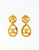 Chanel Vintage Gold CC Logo Teardrop Earrings - Amarcord Vintage Fashion  - 3