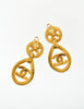 Chanel Vintage Gold CC Logo Teardrop Earrings - Amarcord Vintage Fashion  - 5