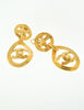 Chanel Vintage Gold CC Logo Teardrop Earrings - Amarcord Vintage Fashion  - 2
