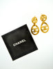 Chanel Vintage Gold CC Logo Teardrop Earrings - Amarcord Vintage Fashion  - 4