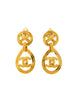 Chanel Vintage Gold CC Logo Teardrop Earrings - Amarcord Vintage Fashion  - 1