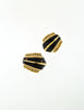 Christian Dior Vintage Black Enamel Rhinestone Gold Earrings - Amarcord Vintage Fashion  - 2