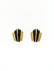 Christian Dior Vintage Black Enamel Rhinestone Gold Earrings - Amarcord Vintage Fashion  - 4