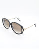 Christian Dior Vintage Black and Gold Sunglasses 2758 - Amarcord Vintage Fashion  - 3