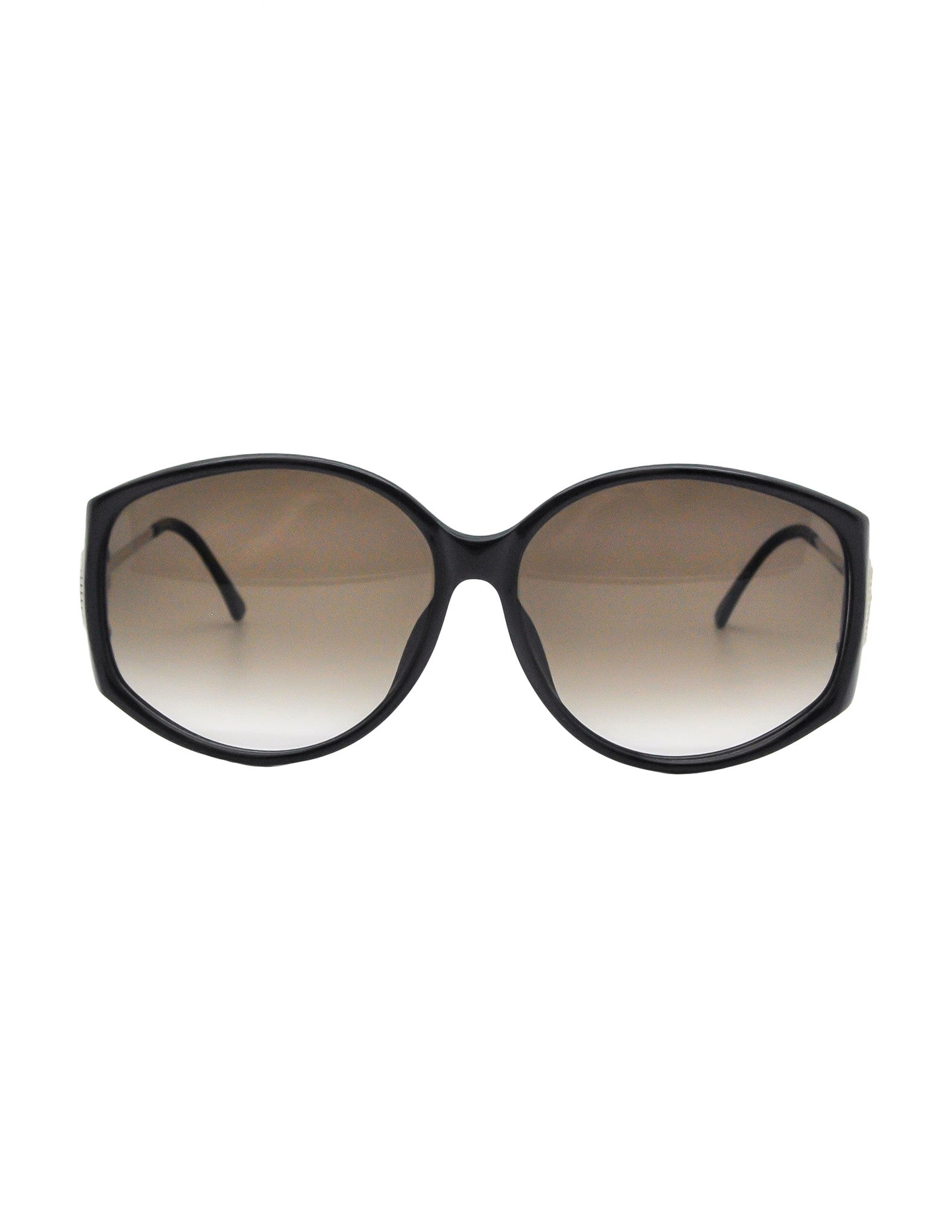Christian Dior Vintage Black and Gold Sunglasses 2758 - Amarcord Vintage Fashion  - 1