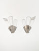Christian Dior Vintage Silver Faceted Clear Crystal Spike Earrings - Amarcord Vintage Fashion  - 5
