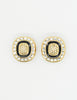 Christian Dior Vintage Diamante Enamel Earrings - Amarcord Vintage Fashion  - 2
