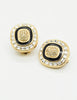 Christian Dior Vintage Diamante Enamel Earrings - Amarcord Vintage Fashion  - 4