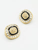 Christian Dior Vintage Diamante Enamel Earrings - Amarcord Vintage Fashion  - 3