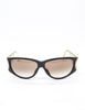 Christian Dior Black and Gold Houndstooth Sunglasses 2662 - Amarcord Vintage Fashion  - 2