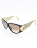 Christian Dior Black and Gold Houndstooth Sunglasses 2662 - Amarcord Vintage Fashion  - 3