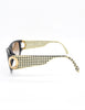 Christian Dior Black and Gold Houndstooth Sunglasses 2662 - Amarcord Vintage Fashion  - 6