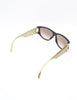 Christian Dior Black and Gold Houndstooth Sunglasses 2662 - Amarcord Vintage Fashion  - 7