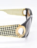 Christian Dior Black and Gold Houndstooth Sunglasses 2662 - Amarcord Vintage Fashion  - 5