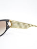 Christian Dior Black and Gold Houndstooth Sunglasses 2662 - Amarcord Vintage Fashion  - 9