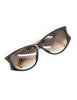 Christian Dior Black and Gold Houndstooth Sunglasses 2662 - Amarcord Vintage Fashion  - 4