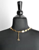 Christian Lacroix Vintage Extra Long Brushed Gold Tablet Necklace - Amarcord Vintage Fashion  - 6