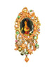 Christian Lacroix Vintage Antique-Inspired Cameo Charm Brooch - Amarcord Vintage Fashion  - 1